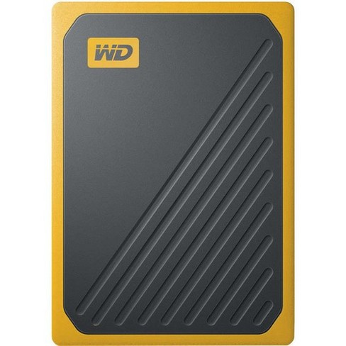 WD My Passport Go WDBMCG5000AYT 500 GB Portable Solid State Drive - External - Black, Amber - USB 3.0 - 3 Year Warranty - image 1 of 4