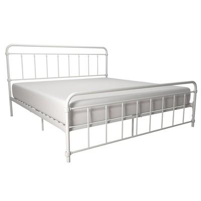 King Waldorf Metal Bed White - Room & Joy