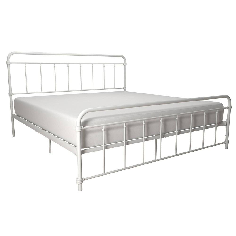 King Waldorf Metal Bed White Room 38 Joy