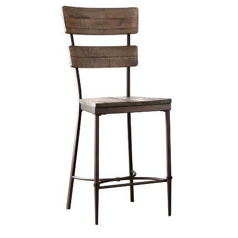 Jennings Counter Stool (Set of 2) - Distressed Walnut - Hillsdale Furniture - image 1 of 2
