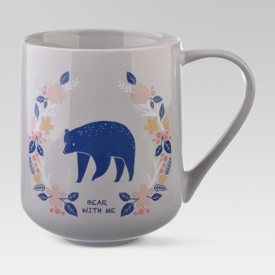 Porcelain Bear With Me Mug 18oz Blue - Threshold™