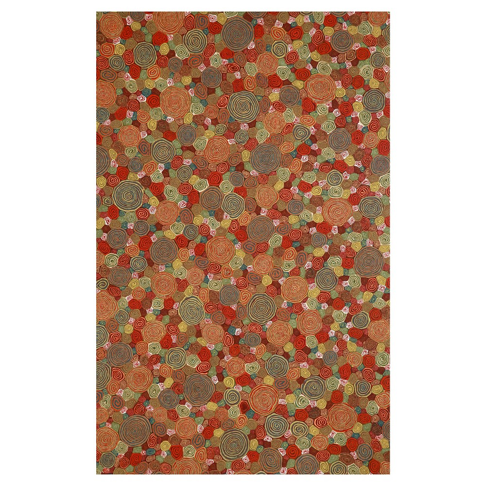 Liora Manne Visions Iii Giant Swirls Indoor/Outdoor Area Rug - Red (8'X10')