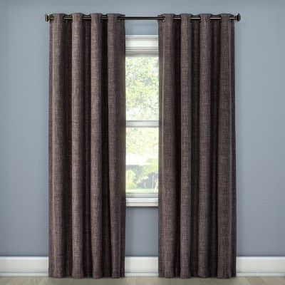 "63""x52"" Rowland Blackout Curtain Panel Charcoal - Eclipse"