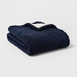 Solid Sherpa Throw Blanket - Threshold™