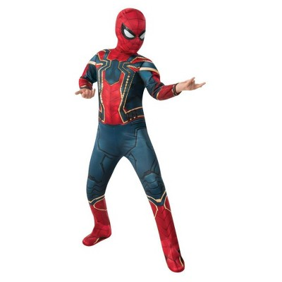 Kids' Marvel Spider-Man Halloween Costume Muscle Jumpsuit with Mask