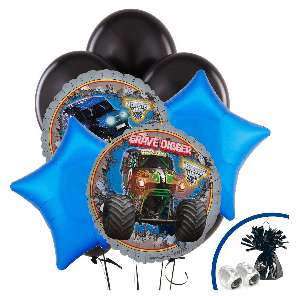Monster Jam Balloon Bouquet, Multi-Colored
