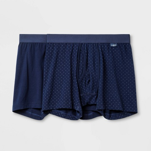 Men's Micro Dot 2pk Boxer Briefs - Goodfellow & Co™ Navy - image 1 of 2