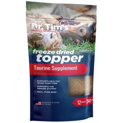 Dr. Tim's Pet Food Freeze Dried Beef Taurine Topper - 12oz