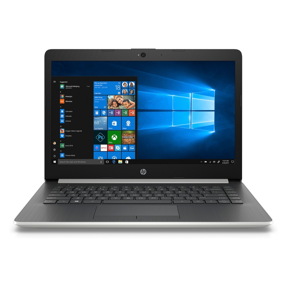"""HP 14"""" Laptop with Windows 10, 9+ Hour Battery, Bluetooth/HDMI/Ethernet, Only 3.24lb (14-cm0012nr), Silver"""