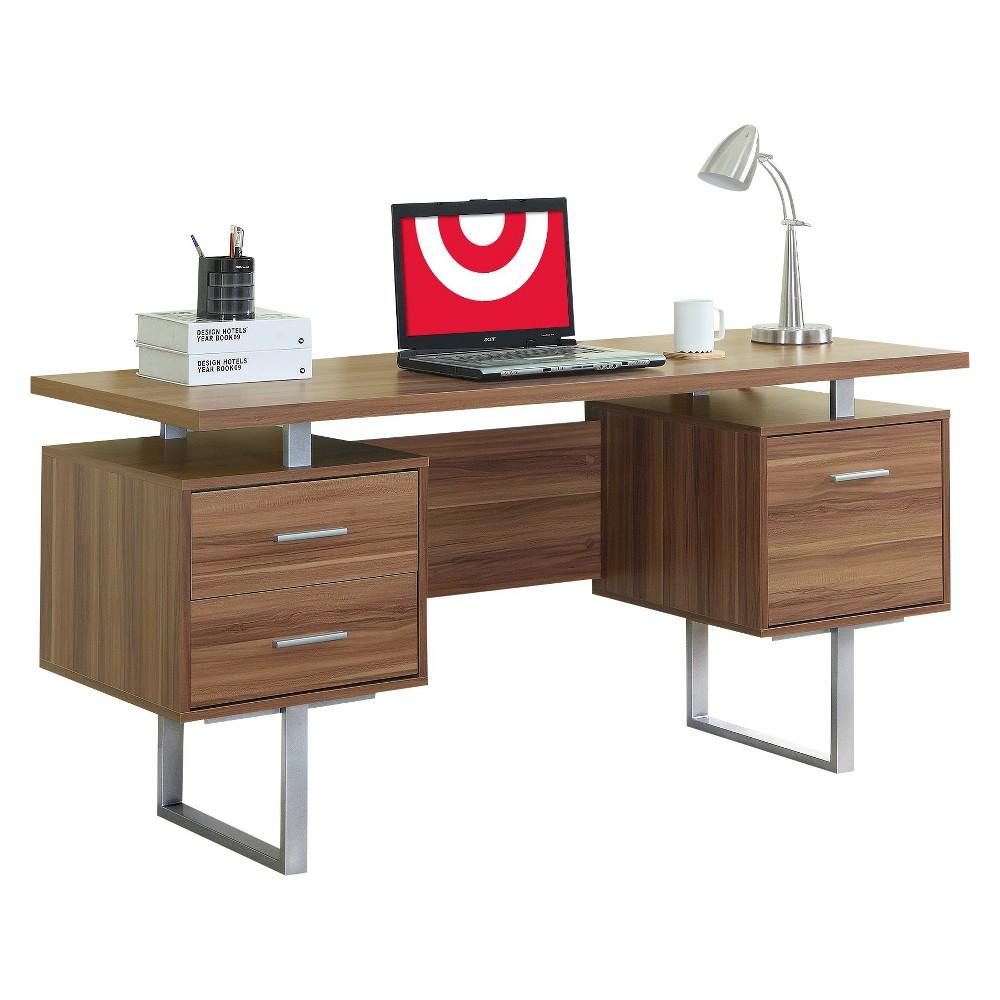 Reclaimed-Look Desk - Walnut (Brown) - EveryRoom