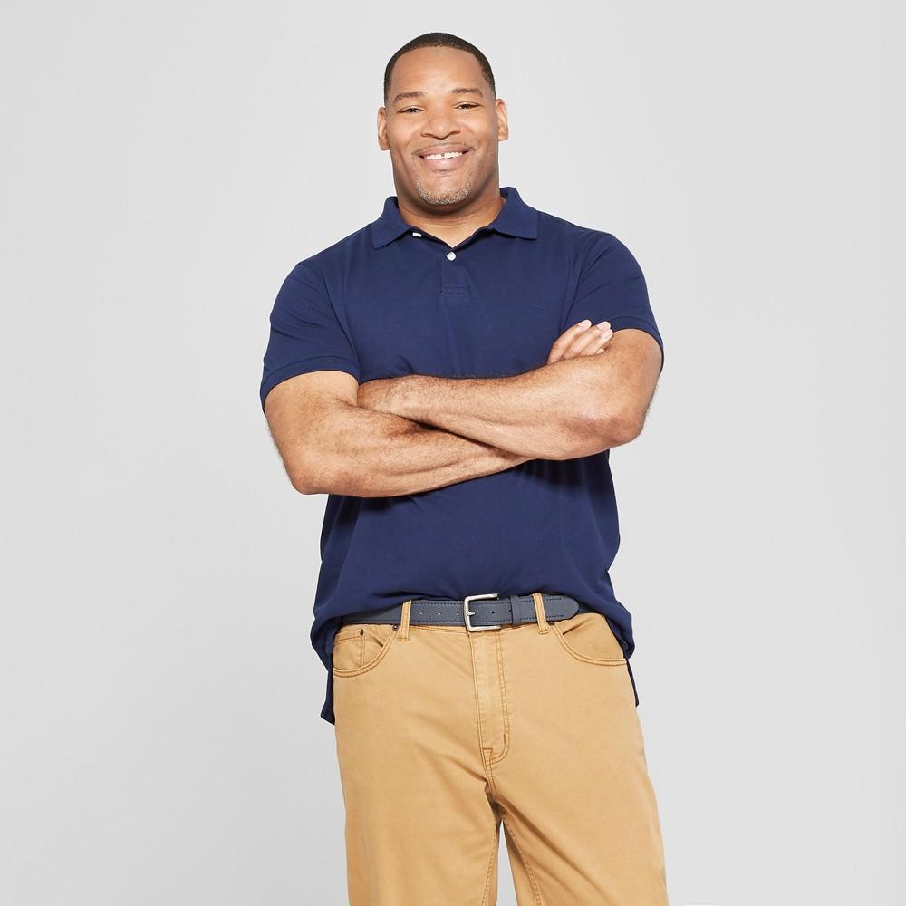 Men's Big & Tall Short Sleeve Loring Polo T-Shirt - Goodfellow & Co Navy Voyage 3XB