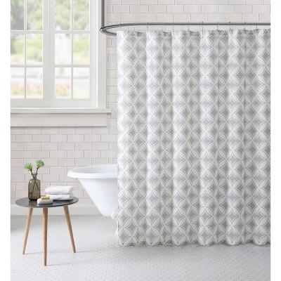 Paisley Shower Curtain Gray - Freshee