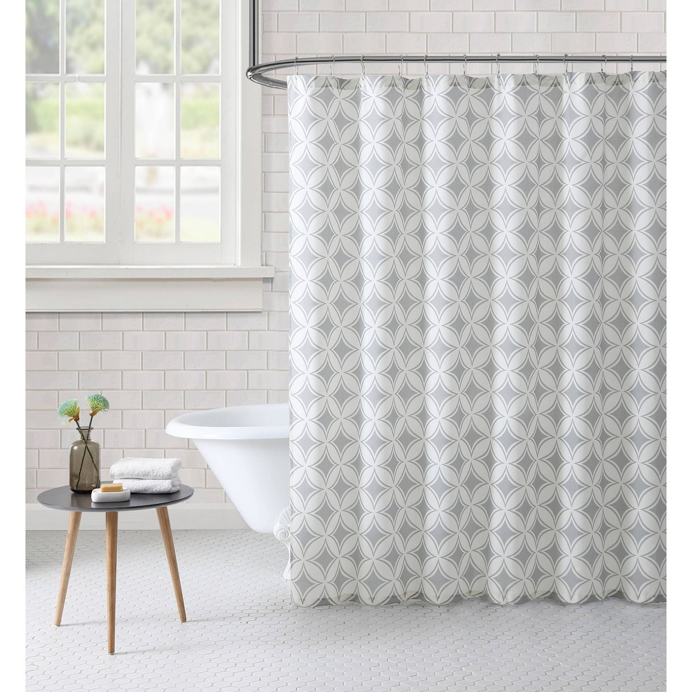 Image of Paisley Shower Curtain Gray - Freshee
