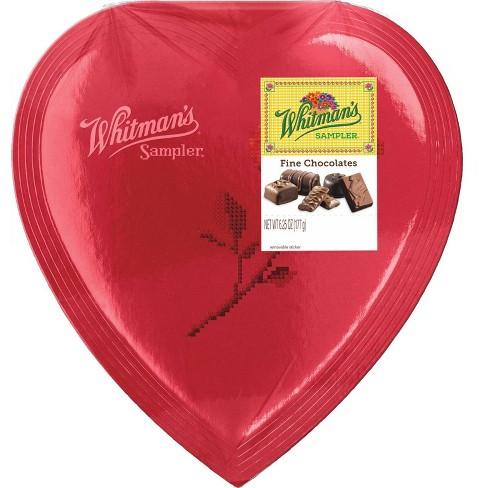 Whitman's Valentine's Sampler Assorted Chocolate Heart - 6.25oz - image 1 of 1