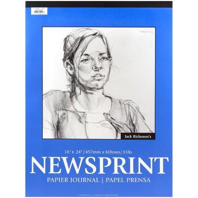 Jack Richeson Newsprint Pad, 18 x 24 Inches, 32 lb, 100 Sheets