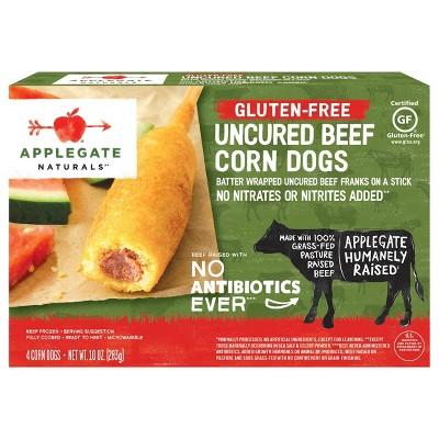 Applegate Gluten Free Frozen Uncured Beef Corn Dogs - 10oz