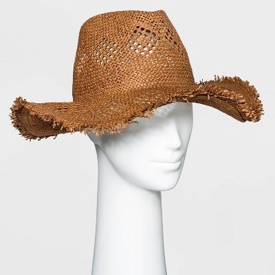 Women's Straw Rancher Hat - Universal Thread™ - Rust