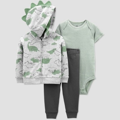 Baby Boys' Dino Short Sleeve Top & Bottom Set - Just One You® made by carter's Sage 6M