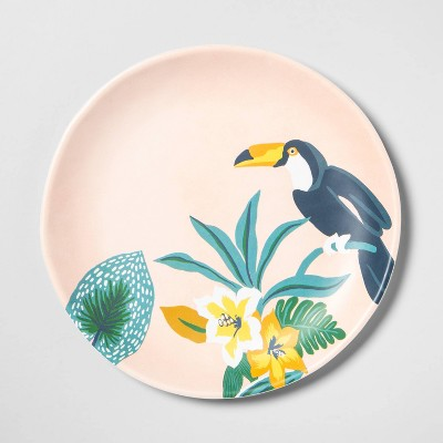 "9"" Melamine Toucan Salad Plate Pink - Opalhouse™"