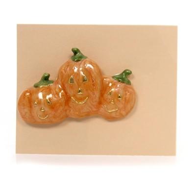 "Jewelry 1.25"" Pumpkin Family Brooch Pin Halloween  -  Costume Jewelry"