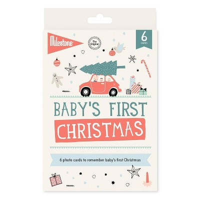 Milestone Baby's First Christmas Cards - 6pc