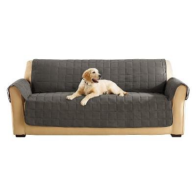 Ultimate Waterproof Suede Sofa Furniture Protector Gray - Sure Fit