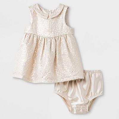 Baby Girls' Jacquard Dress - Cat & Jack™™ Cream 3-6M