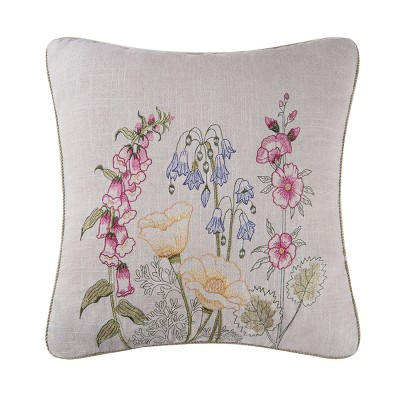 C&F Home Floral Garden July 4th Embroidered Pillow