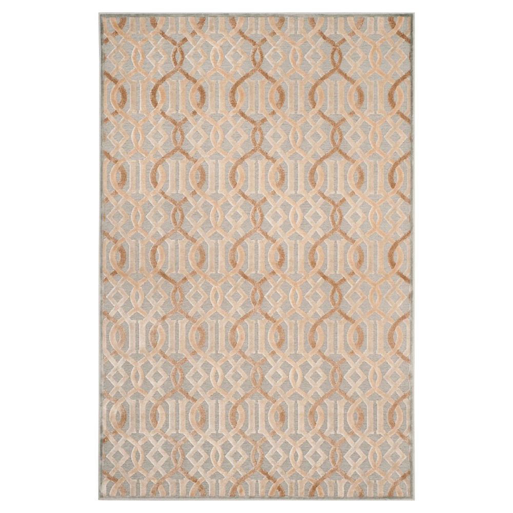 Blue Geometric Loomed Accent Rug - (4'X5') - Safavieh