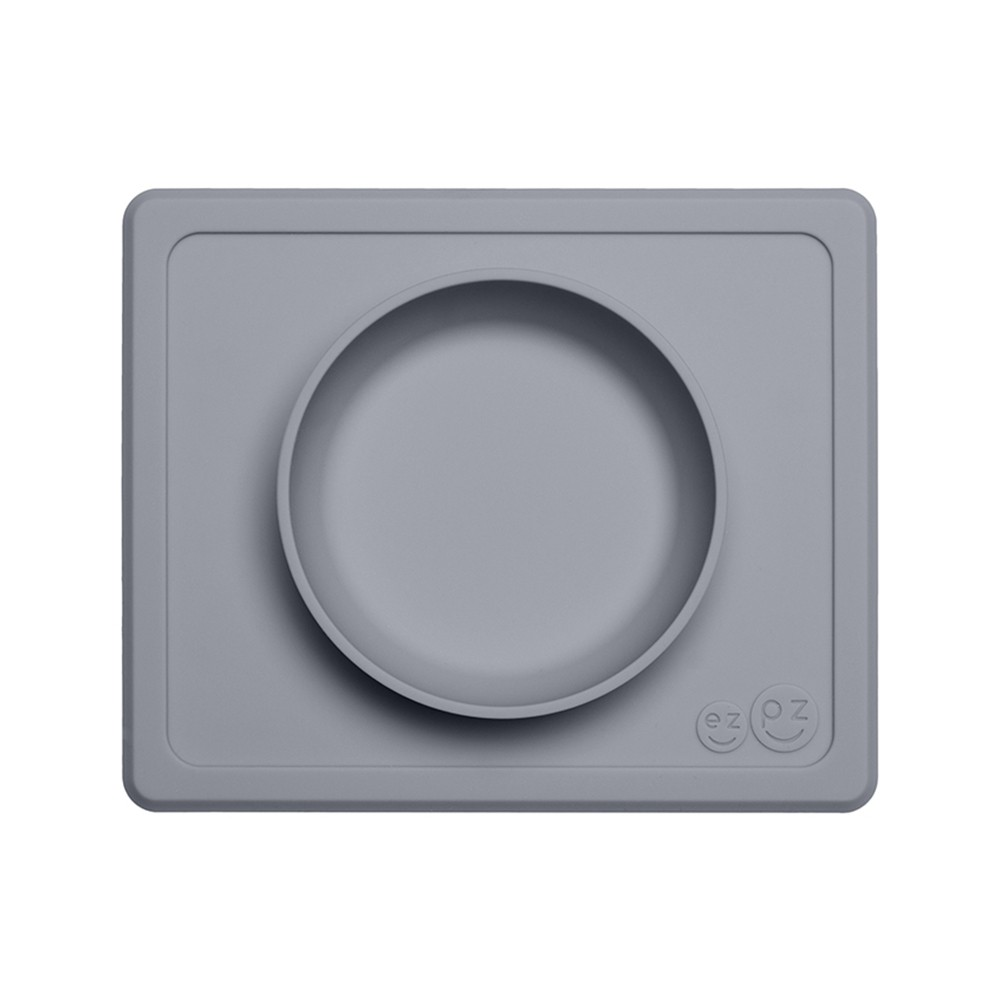 Image of ezpz Mini Bowl - Gray, dining bowls