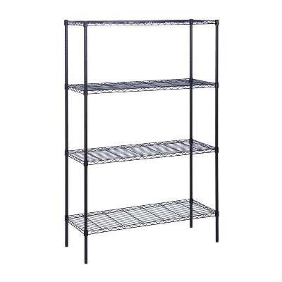 Honey-Can-Do 3 Tier 350lbs Storage Rack Black