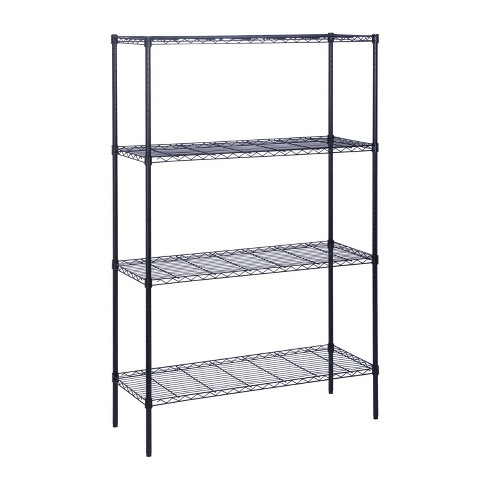 Honey-Can-Do 3 Tier 350lbs Storage Rack Black - image 1 of 4