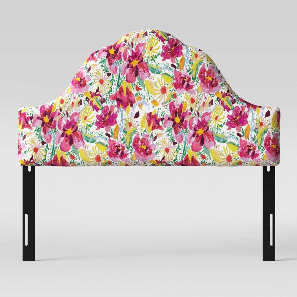 California King Zinnia Arched Headboard Bright Floral - Opalhouse