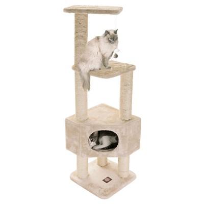 """Majestic Pet Casita Faux Fur Activity Center Cat Scratcher Honey - 52"""""""
