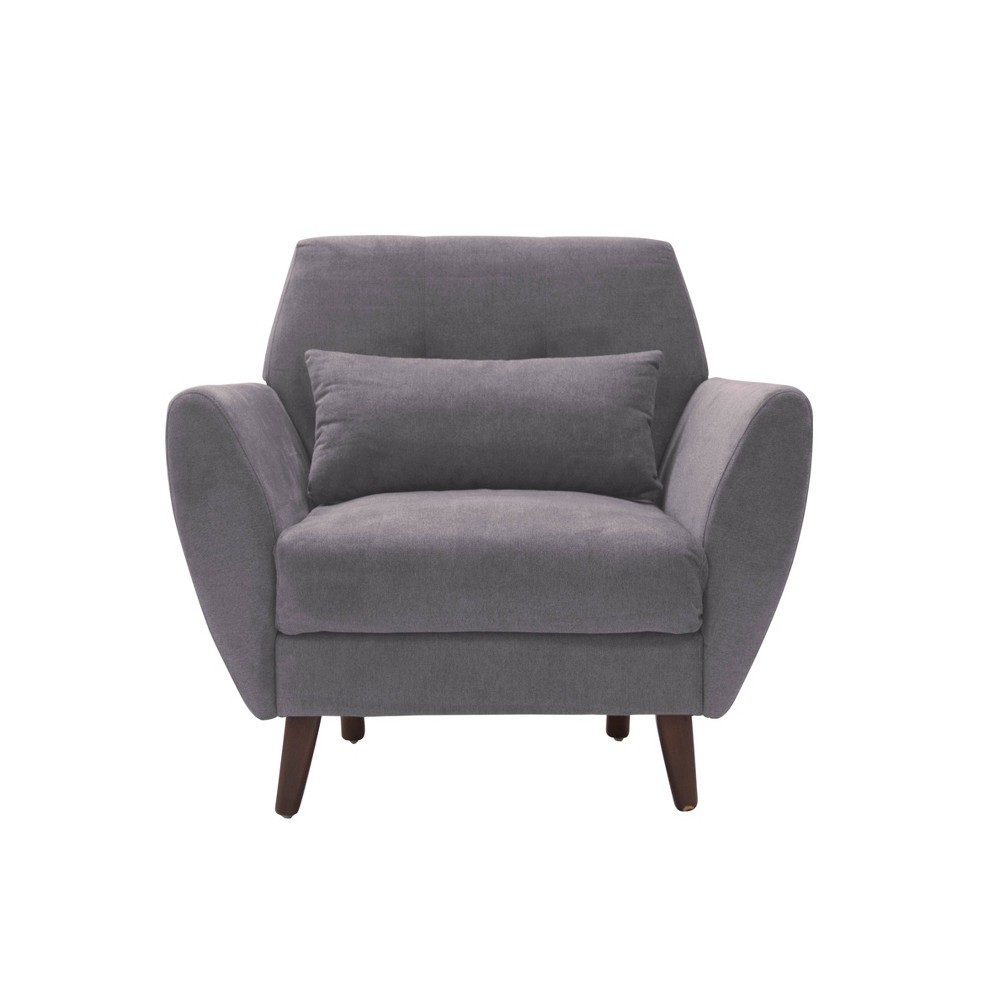 "Image of ""24"""" Amelie Mid-Century Modern Arm Chair Dark Gray - Adore Décor"""