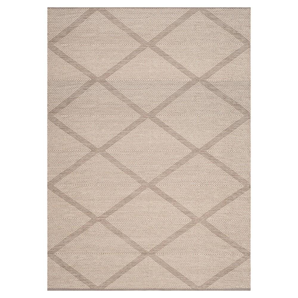 Gray Geometric Flatweave Woven Area Rug - (5'X8') - Safavieh