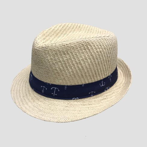 55c716f2dfebd Baby Boys  Fedora With Anchor Band - Cat   Jack™ Natural 12-24M   Target