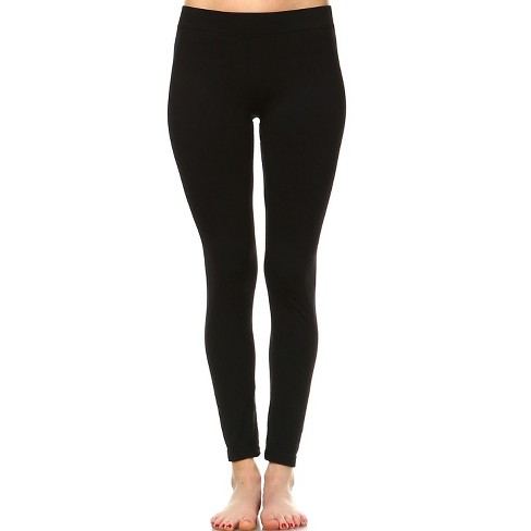 Women's Slim Fit Solid Leggings - One Size Fits Most - White Mark - image 1 of 3