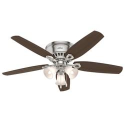 "52"" Builder 3 LED Lights Ceiling Fan Brushed Nickel - Hunter Fan"