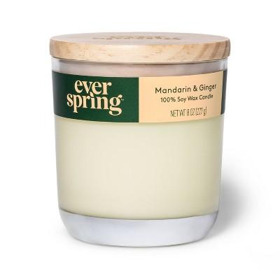 Mandarin & Ginger 100% Soy Wax Candle - Everspring™
