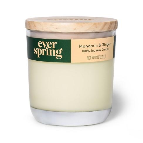 Mandarin & Ginger 100% Soy Wax Candle - Everspring™ - image 1 of 4
