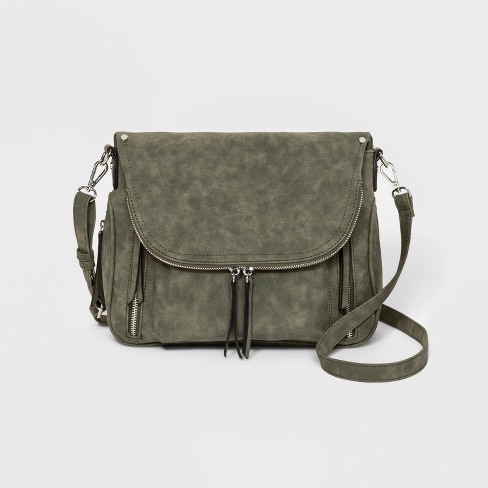 VR NYC Crossbody Bag With Pockets - Olive Tree   Target a660ad21b7074