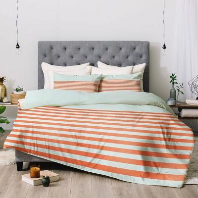 June Journal Beach Stripes Comforter Set - Deny Designs
