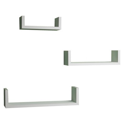 3pc Nesting Wall Shelf Set White - Danya B.
