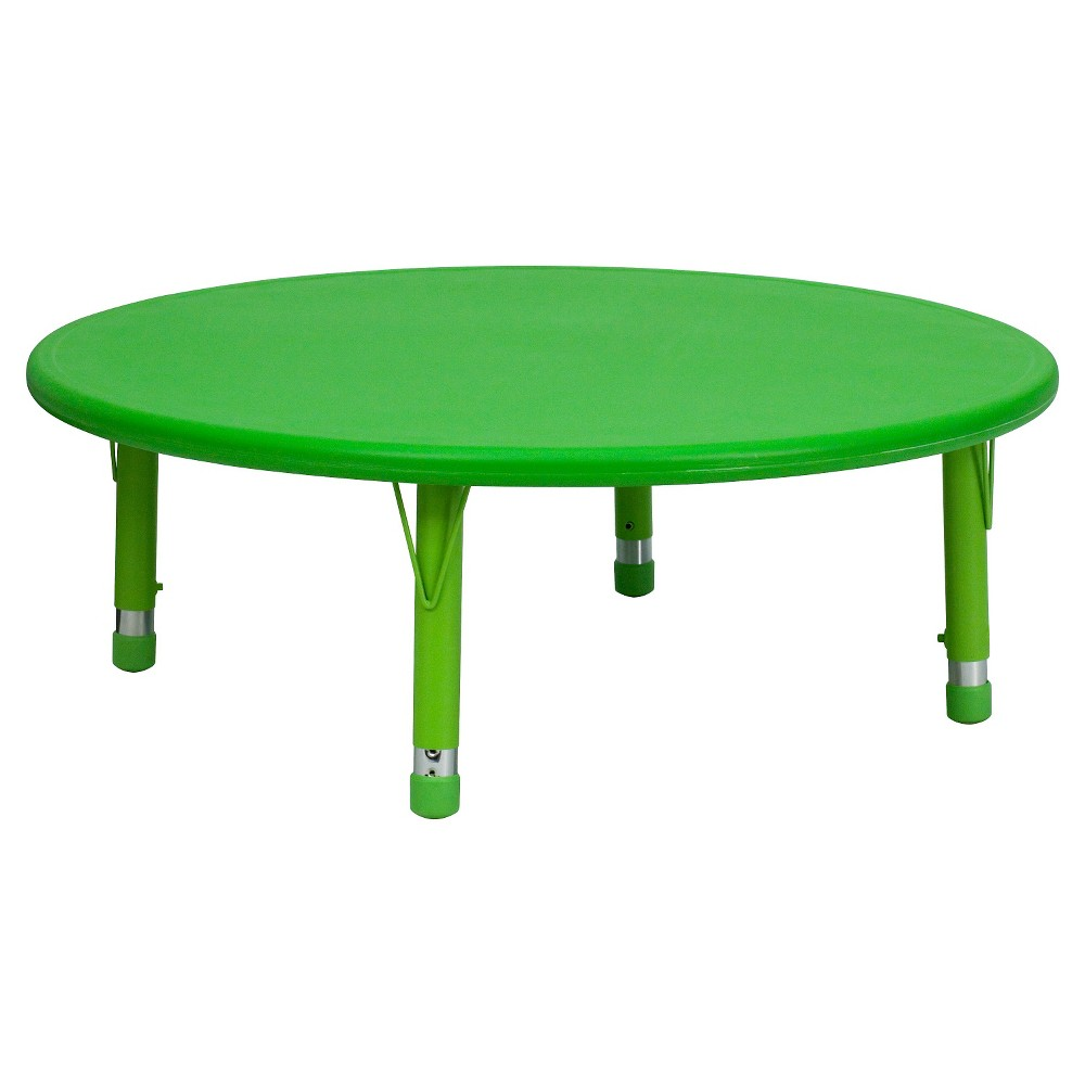 Flash Furniture Round Activity Table Green - Belnick