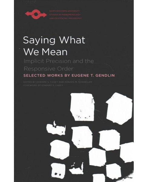 Saying What We Mean : Implicit Precision and the Responsive Order -  by Eugene T. Gendlin (Paperback) - image 1 of 1