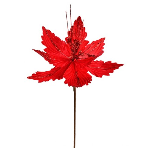 Vickerman Poinsettia Aritificial Christmas Spray - image 1 of 2