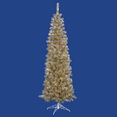 hot sale online b2e75 8c068 Vickerman 7.5' Pre-Lit Pencil Slim Artificial Christmas Tree - Clear  Dura-Lit Lights