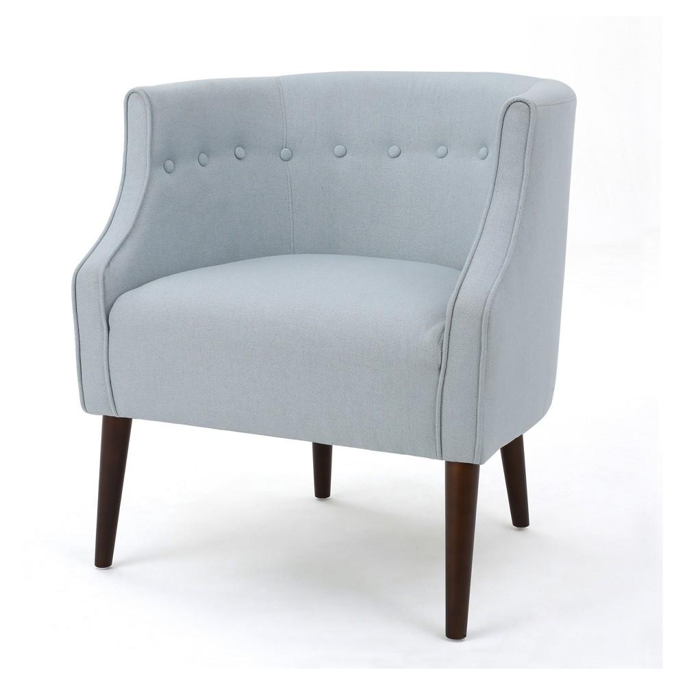 Brandi Upholstered Club Chair - Light Sky Blue- Christopher Knight Home, Light Sky Blue
