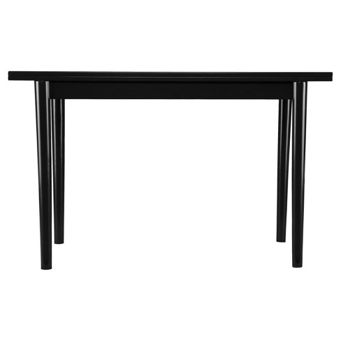 Caplow Flip Top Convertible Console To Dining Table Black Aiden Lane